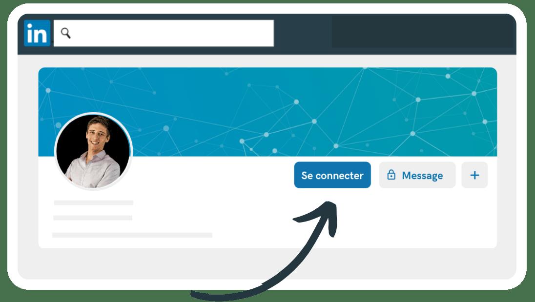 Demande invitation sur le réseau pro