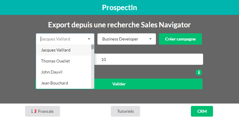prospect export from linkedin sales navigator
