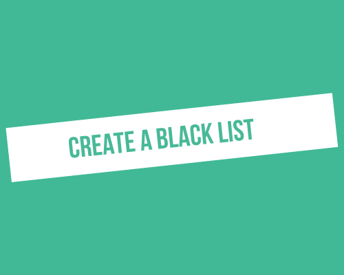 How to create a blacklist with ProspectIn