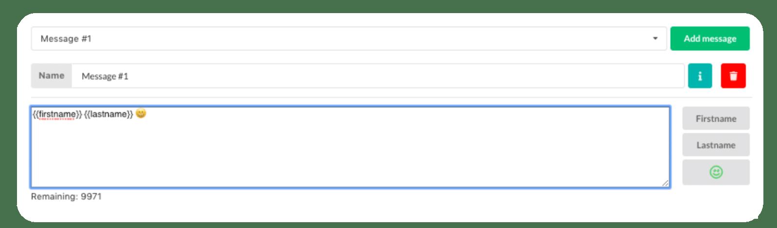 message automatique personnalisé linkedin