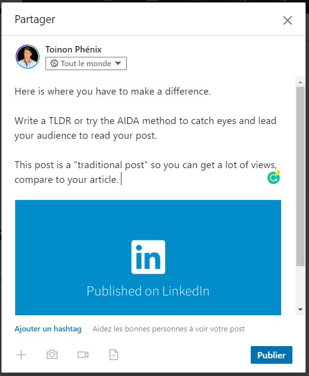 example of an article linkedIn pulse