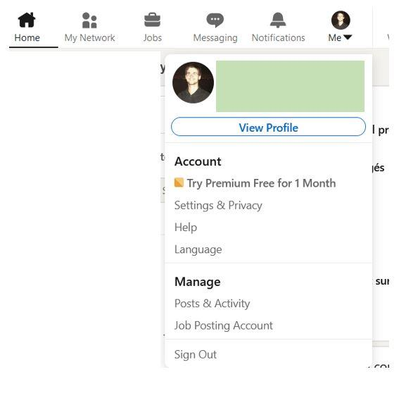 Go private on linkedin using your settings
